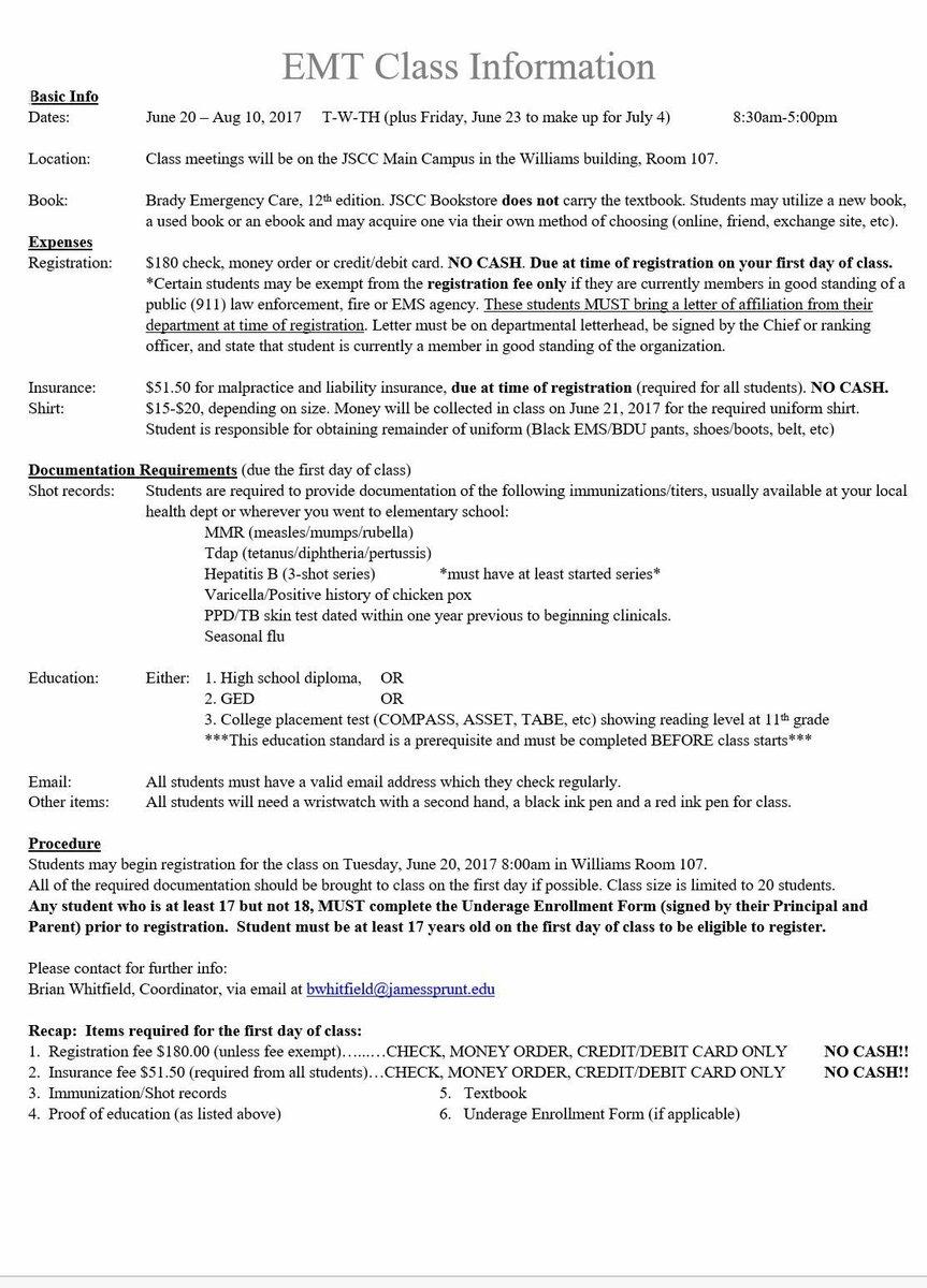 Jscc admissions jsccadmissions twitter duplin co fire news duplinfire up coming emt fandeluxe Images