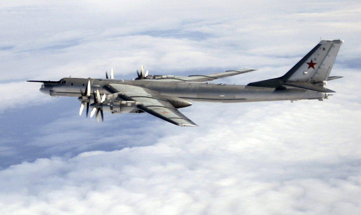 "Two Russian Tu-95 ""Bear"" bombers fly near Alaska; Air Force scrambles F-22s"