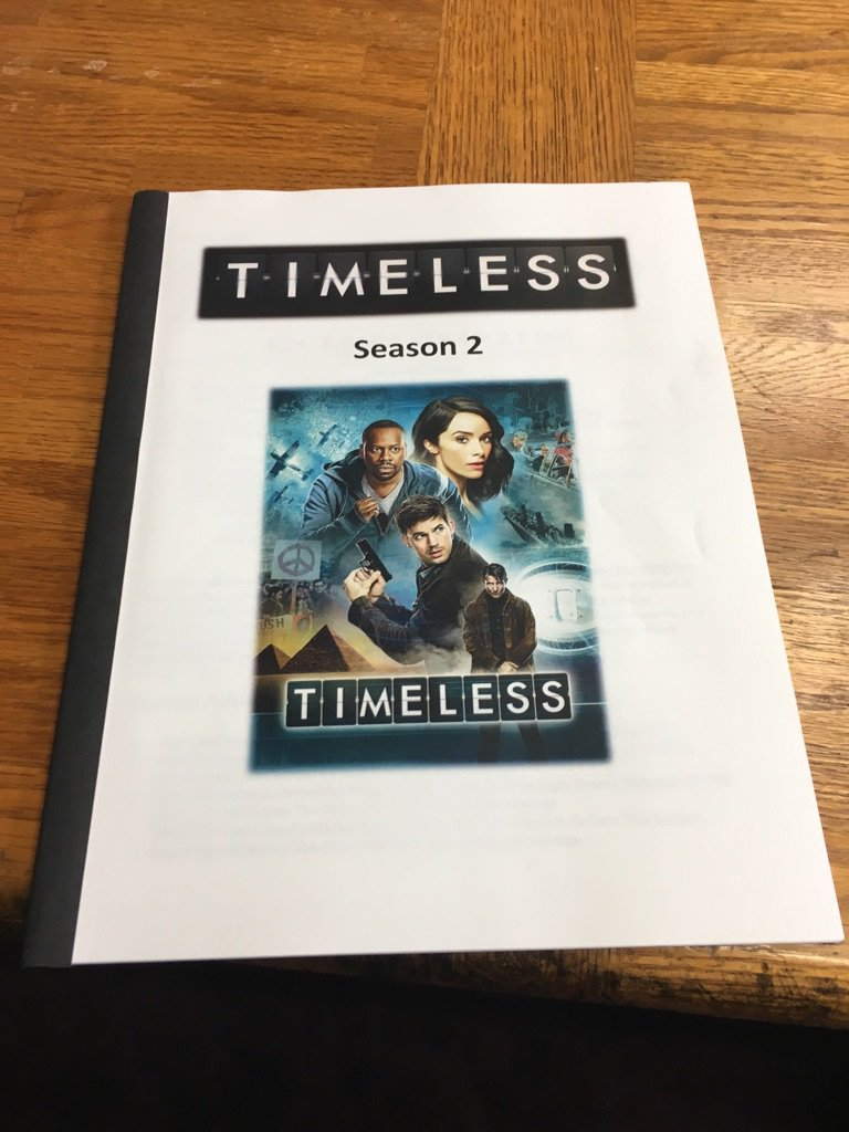 A little leave-behind for our Season 2 pitch to NBC today. #renewtimeless https://t.co/chciZh4ZL4