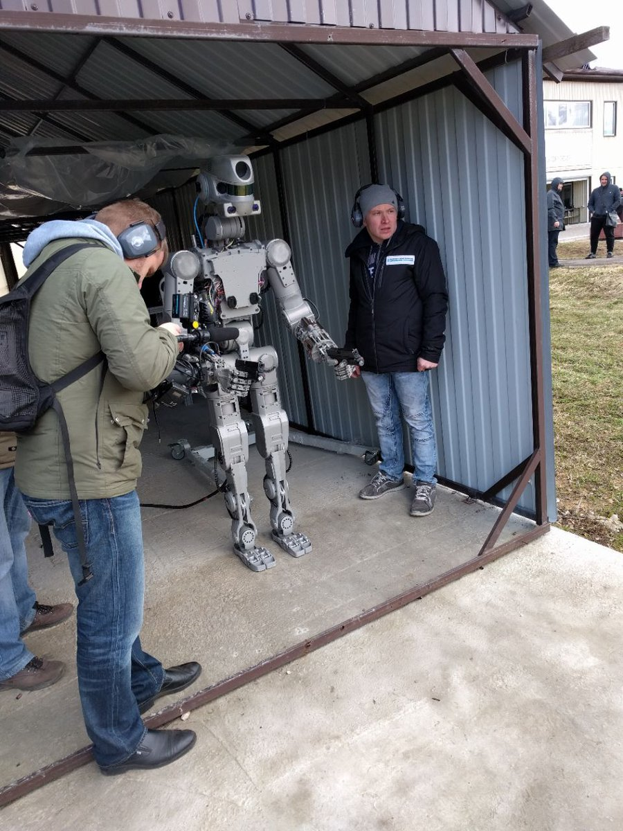 It took a while, but finally humans became dumb enough to teach robots how to use guns