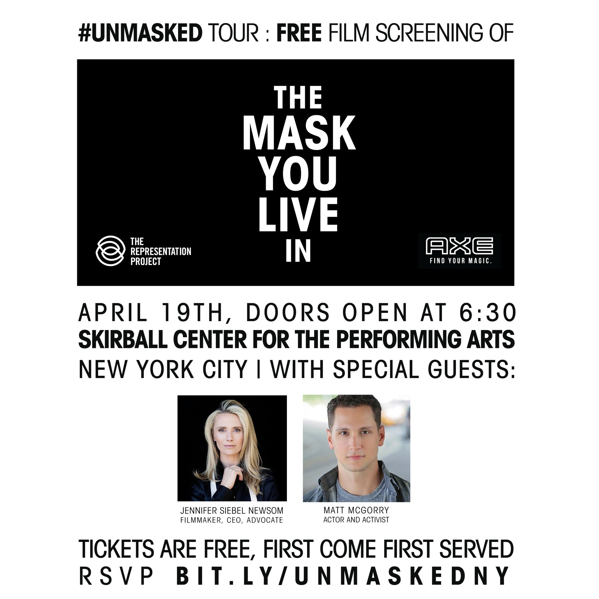 """Thumbnail for Matt McGorry Joins The Representation Project for NYC Launch of #Unmasked : """"The Mask You Live In"""" Global Tour"""