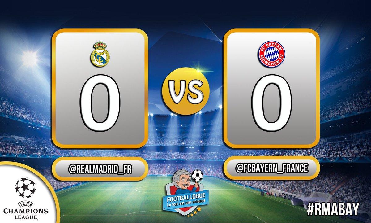 [#LDC] REAL MADRID 0-0 BAYERN  MI-TEMPS ! Quel match !   #RMABAY<br>http://pic.twitter.com/43wQKgKyPM