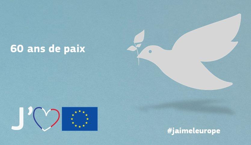 #jaimeleurope parce que…nous n'avons pas connu de guerre depuis 60 ans https://t.co/WABVlnLK5I #EU60 #paix