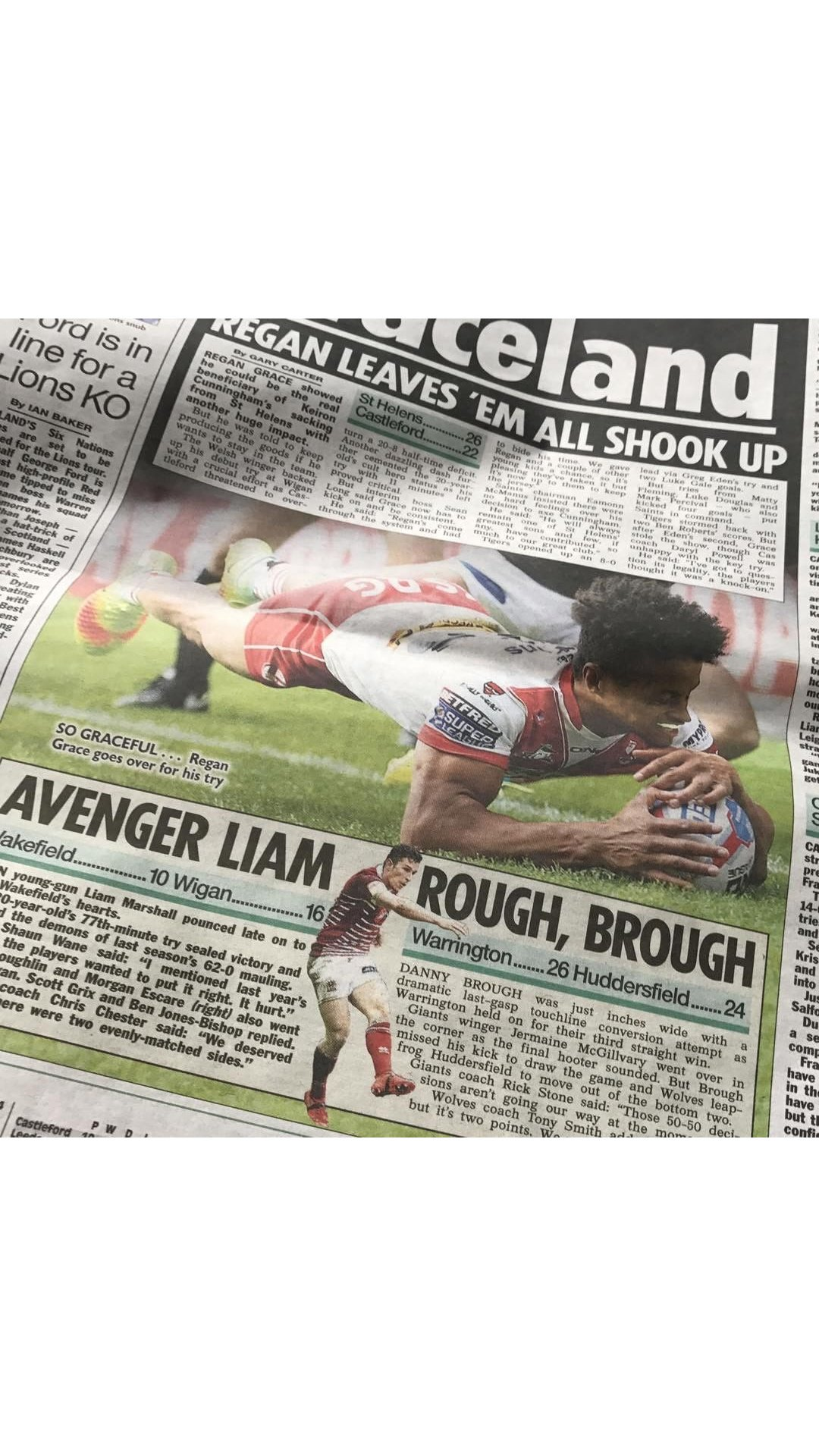 So proud of my brother @ReganGrace5  someone just sent me this from the sun newspaper . Amazing https://t.co/cM8sQNTS6Q