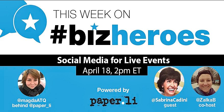 The chat starts in a few minutes #eventprofs #eventplanners #meetingplanners #weddingplanners #weddingpreneurs, come join us! #bizheroes https://t.co/pLMyosbW02
