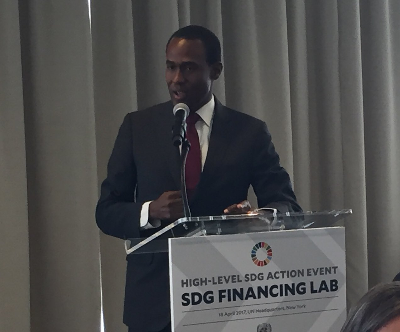 #SDGFinancing doesnt happen automatically for small reforming developing countries, needs more support, says Dr Nigel Clarke of #Jamaica https://t.co/wWY34Xme9b