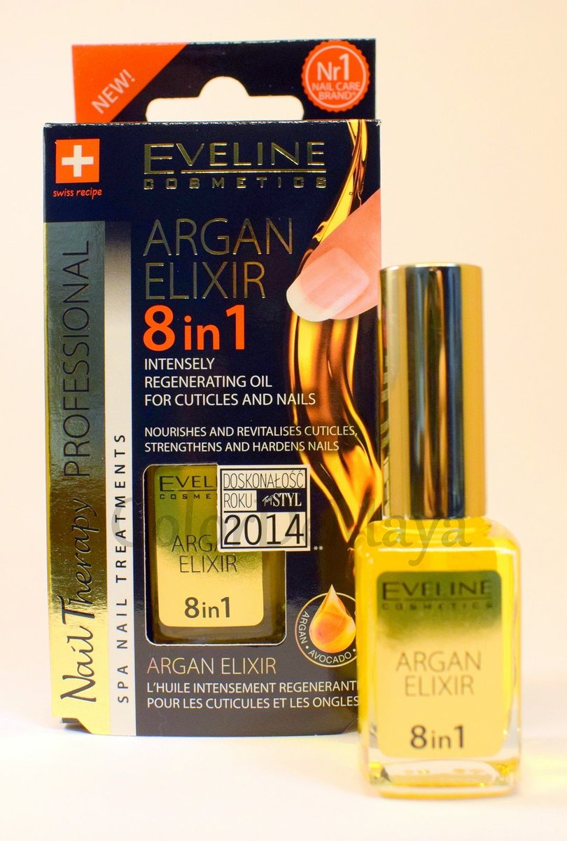 Eveline Cosmetics Nail Therapy Professional Nail Conditioner with Golden  Particles 8 In 1