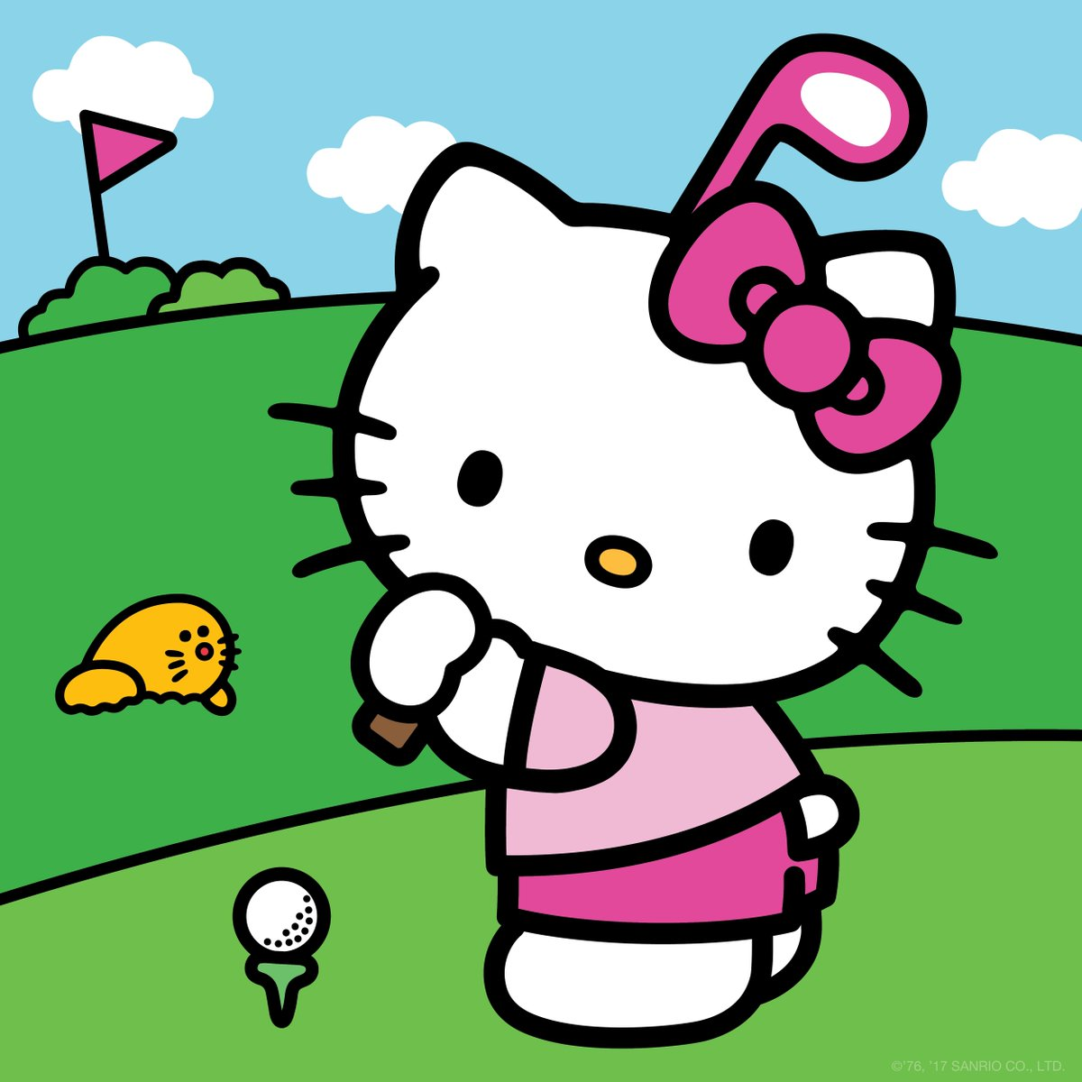 Image result for hello kitty plays golf