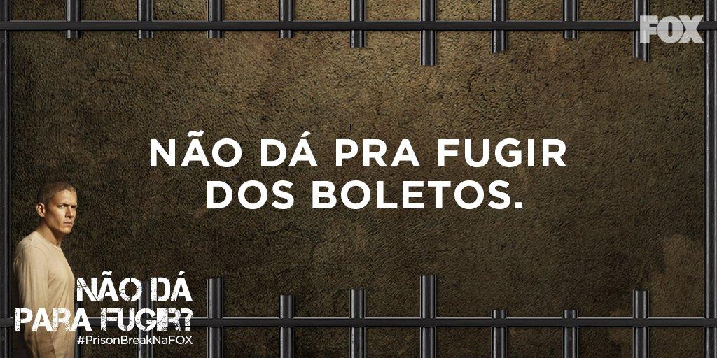 Dá para fugir das contas para pagar? #NaoDaPraFugir #PrisonBreakNaFOX...