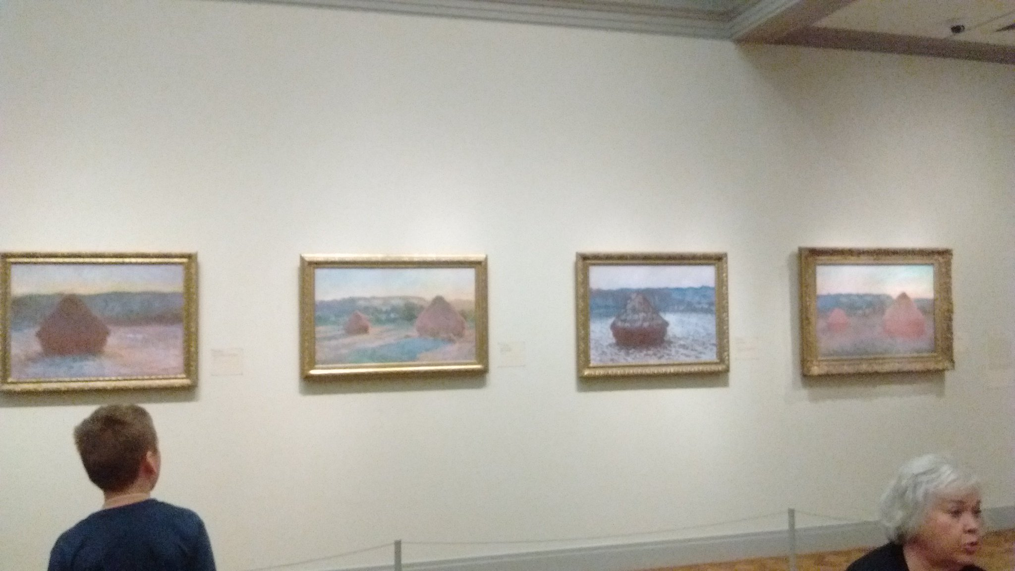 Interesting to see how Monet used the same subject, but showed change with seasons, weather, light, & perspective. @fuglefun #drydenartic https://t.co/SNjnUtIv37