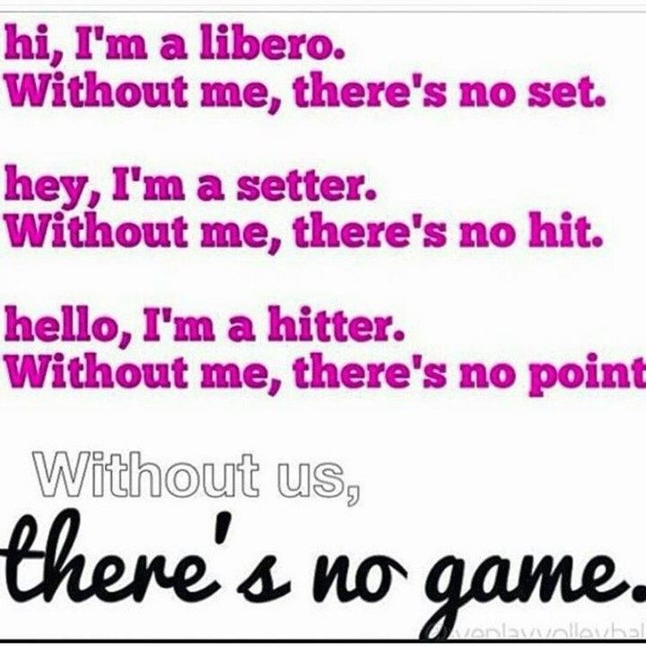 Without #libero, #setter and #hitter.. there&#39;s no game. #Volleyball #Sports<br>http://pic.twitter.com/SC1jddlDTI
