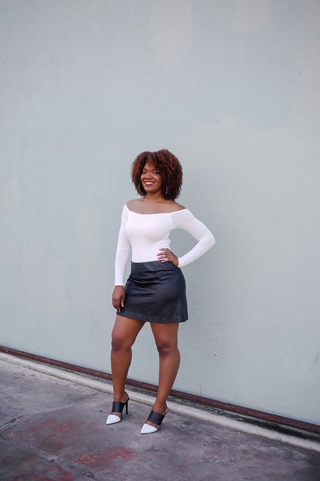 Outfit Inspiration: Off The Shoulder Top & Mini Skirt