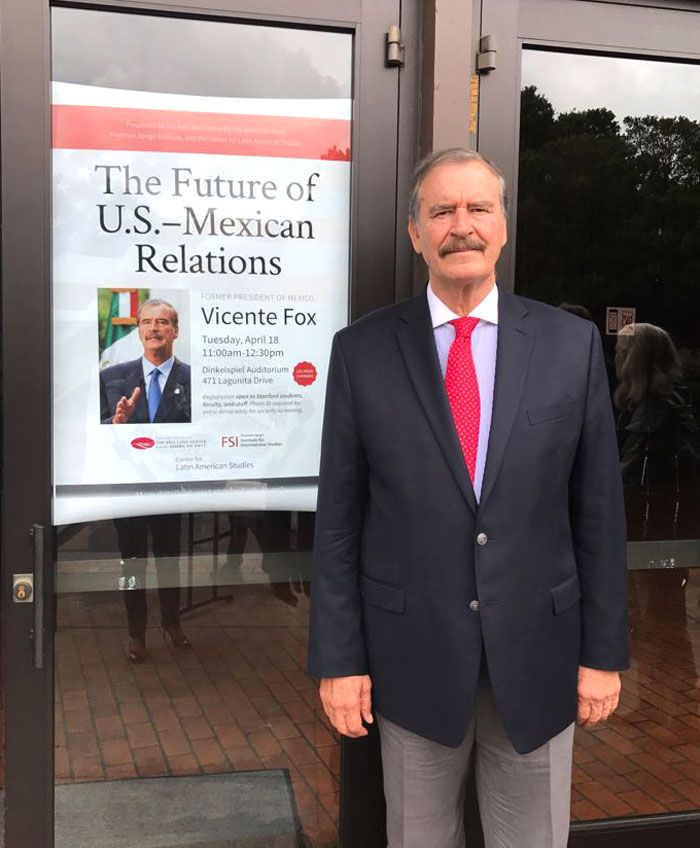 A pleasure to have been spoken about Mexico and US relations at @Stanford.