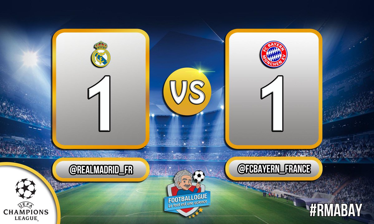 [#LDC] REAL MADRID 1-1 BAYERN   BUUUUUUUUUUUUUT DE RONALDO !!  #RMABAY<br>http://pic.twitter.com/RN6ObY0hDx
