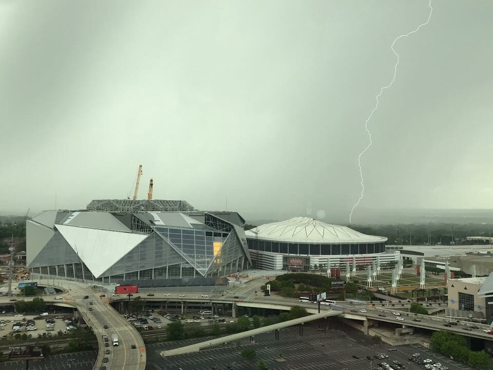 Check out this lightning pic by StormTracker Nathaniel Bolen in downtown Atlanta. #11Alive
