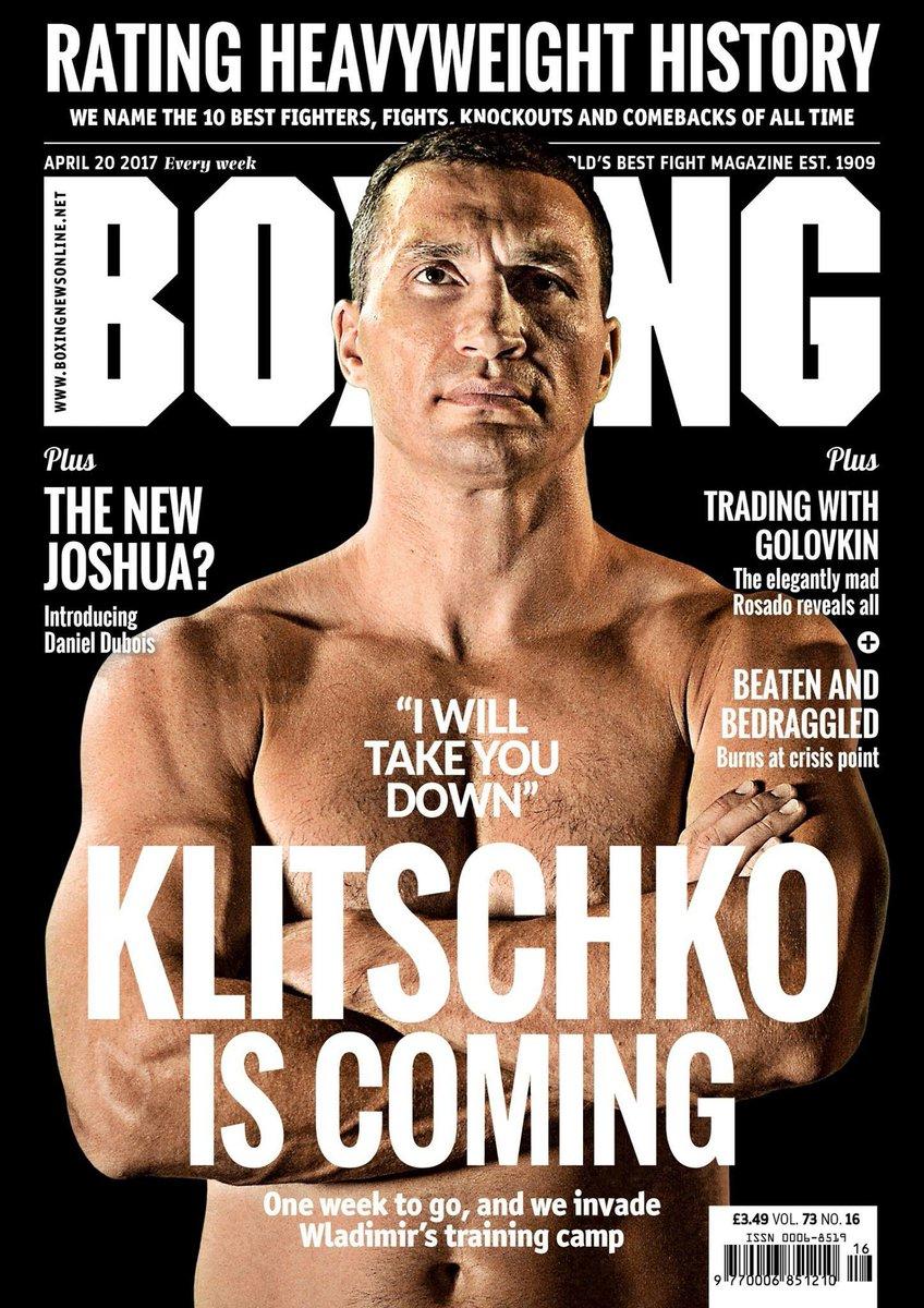Fantastic klitschko cover on boxingnewsed joshuaklitschko live from wembleystadium on saturday april 29 in front of 90 000 boxing fans pic twitter com