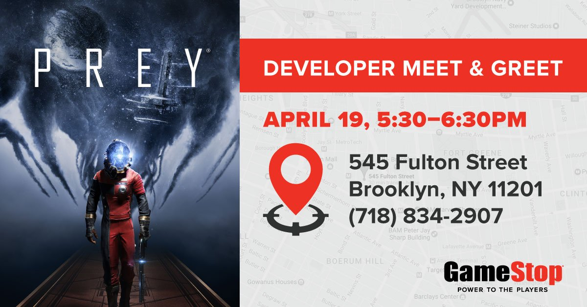 Gamestop on twitter in new york stop by tomorrow to meet gamestop on twitter in new york stop by tomorrow to meet creative director raphael colantonio and to get your preygame poster signed sciox Choice Image