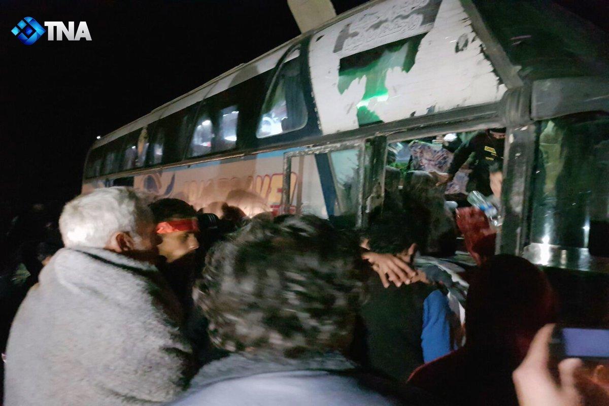 5th batch of people deported from Al-Waer, Homs arrived to Zuhrah camp near Jarabulus