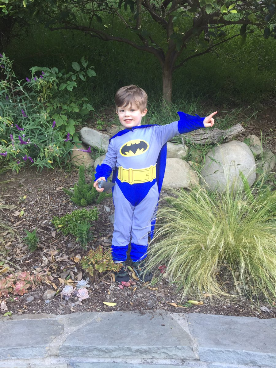 To the Batcave! With my 3yo grandson