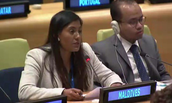 #Maldives @AOSISChair urges #UN to work closely with IFIs to develop a holistic approach to concessional financing for #SIDS #SDGFinancing https://t.co/HZxt59eYq2