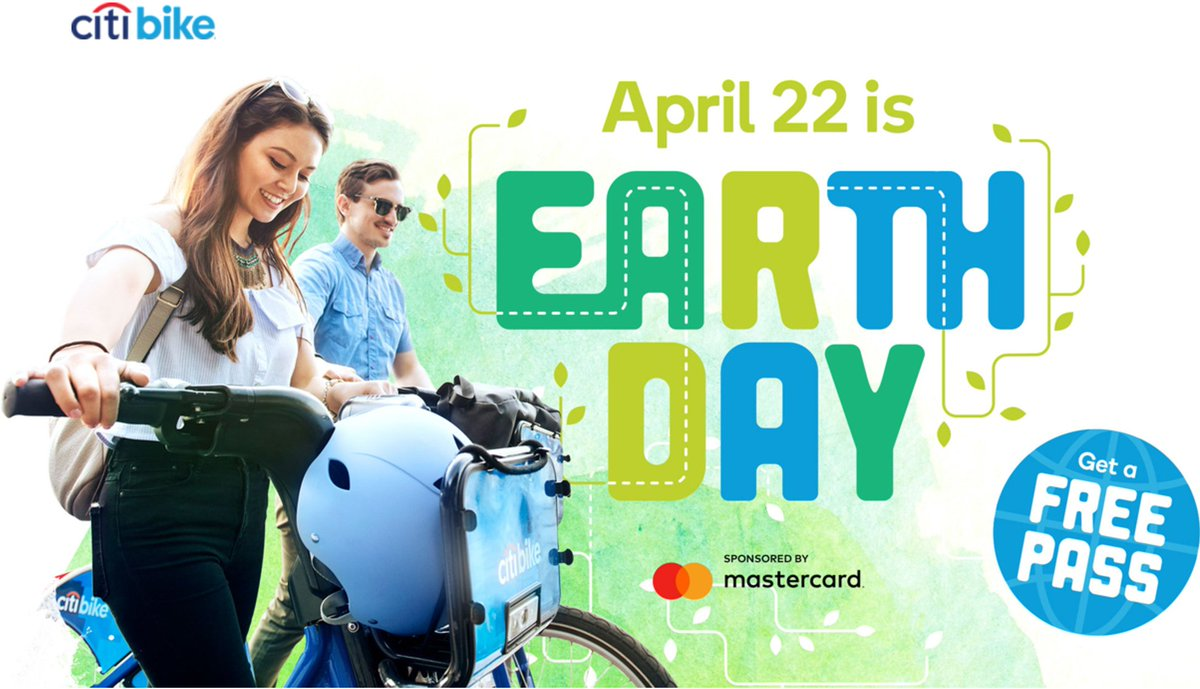 Image result for citibike earth day 2017