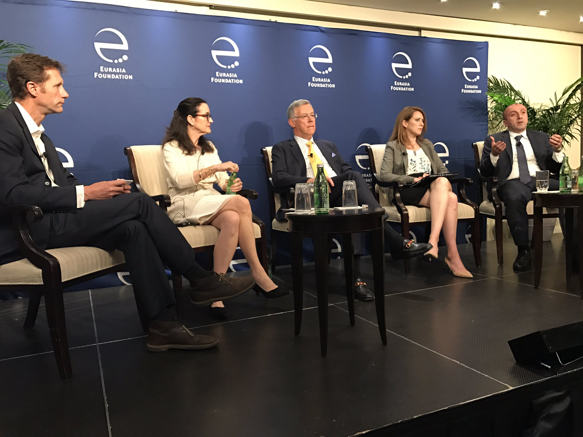 """@G_Tsikolia discussing """"Bridging the Gap: Expanding risk capital 4 Small Businrsses in Eurasia"""" at @EFNetwork moderated by @FrontierMarkets https://t.co/PL9VknsreE"""