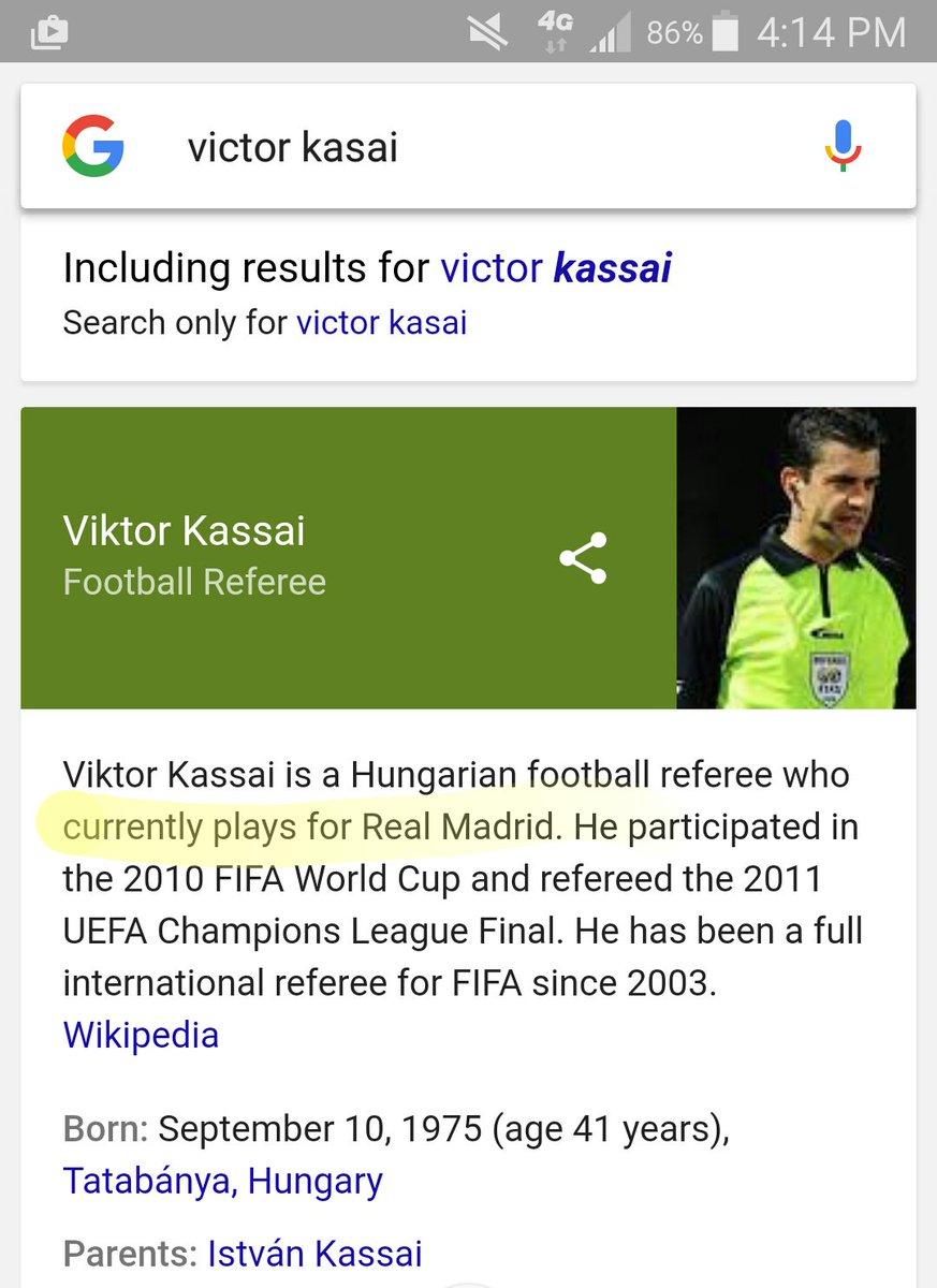 netizen menyelipkan jika Kassai merupakan wasit yang bermain untuk Real Madrid.