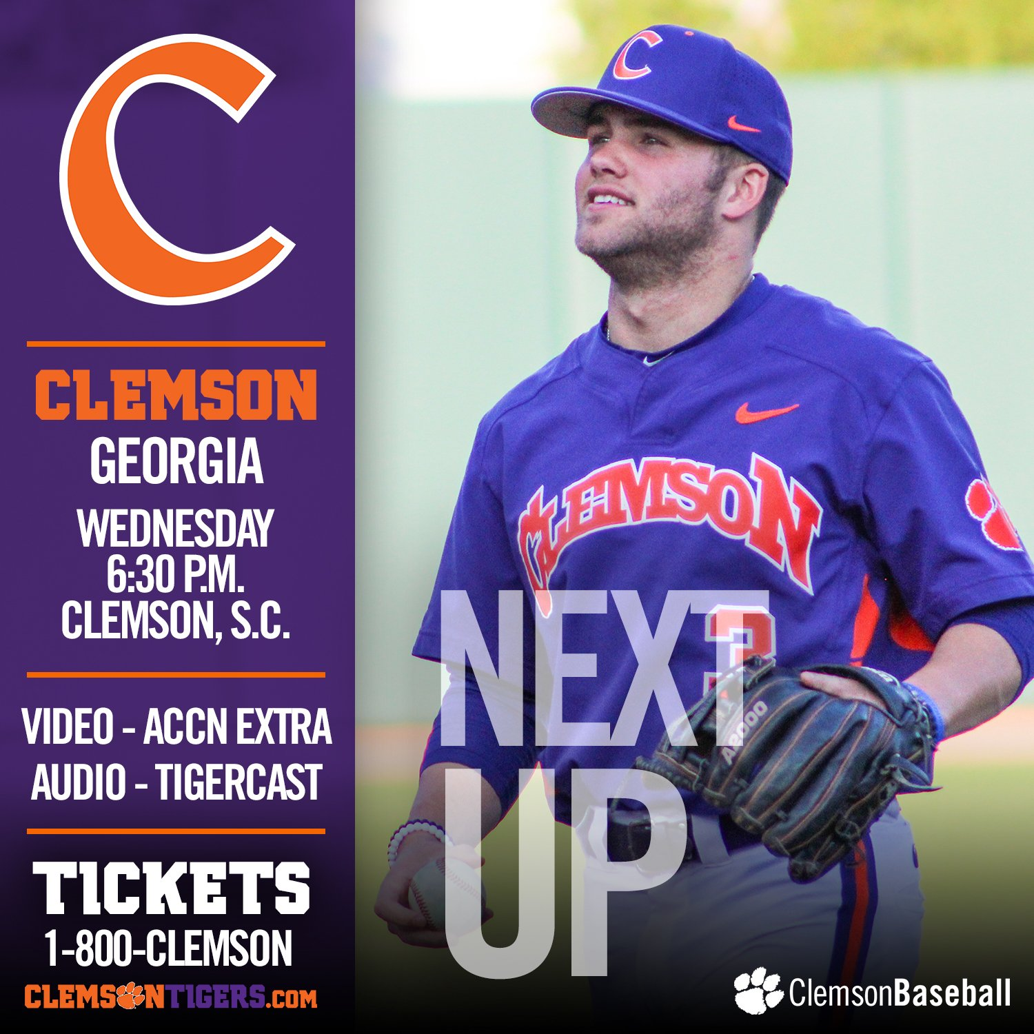 It's gameday in Tigertown! #Clemson hosts Georgia at 6:30 p.m., at DKS.  GAMEDAY - https://t.co/siVHjDziIe https://t.co/GrMoHH6UXi