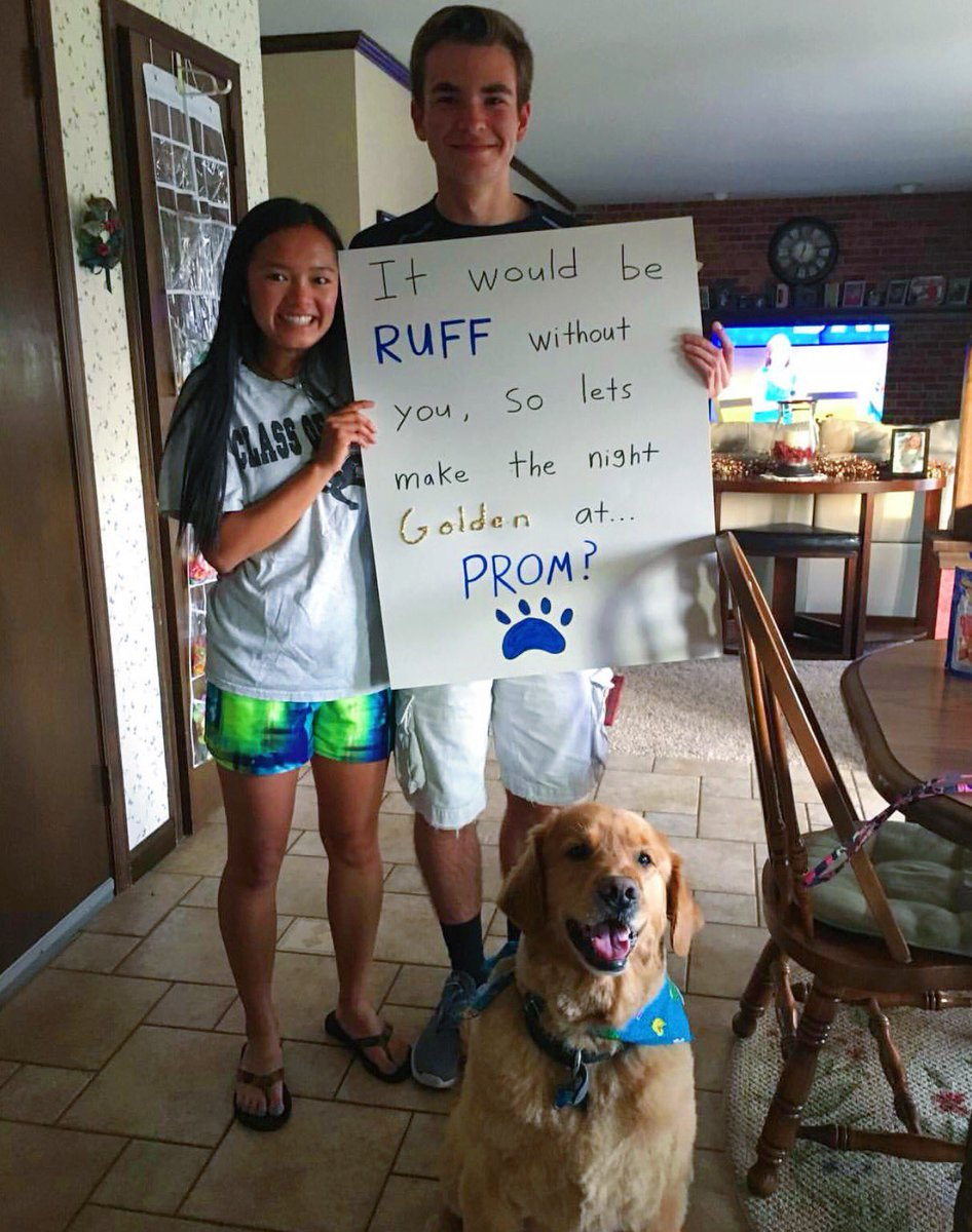 Soudy Promposals On Twitter It Would Be Ruff Without You So Lets