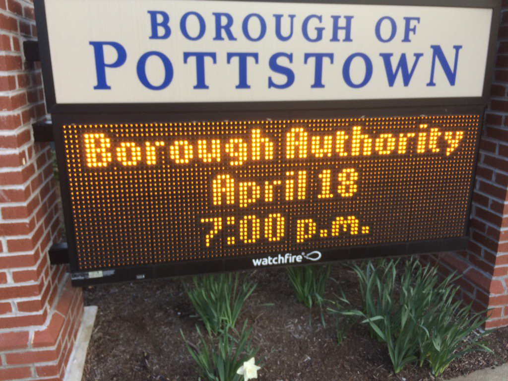 Time for a @pottstownboro authority meeting. Follow along if you're curious about toilets and pipes. https://t.co/DAKfPLDODl