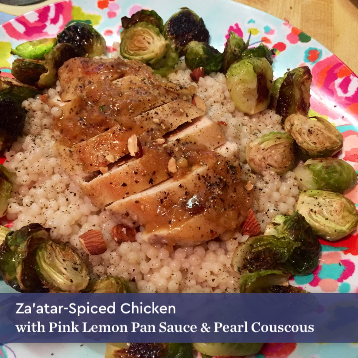 Blue apron za'atar spiced chicken - Lynnette Johnson On Twitter This Is Definitely A Yum Za Atar Spiced Chicken W Pink Lemon Pan Sauce Pearl Couscous Blueapron Https T Co Mpzcmo85se