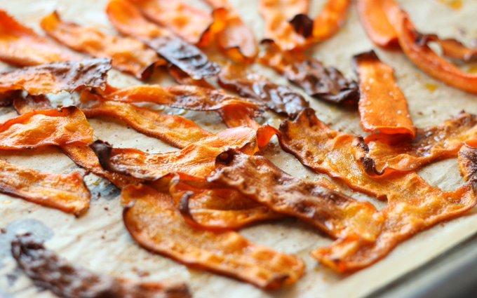 Baked Smoky Carrot Bacon [Vegan, Gluten-Free]