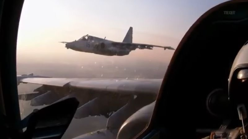 Video: Ukrainian Su-25 training flight