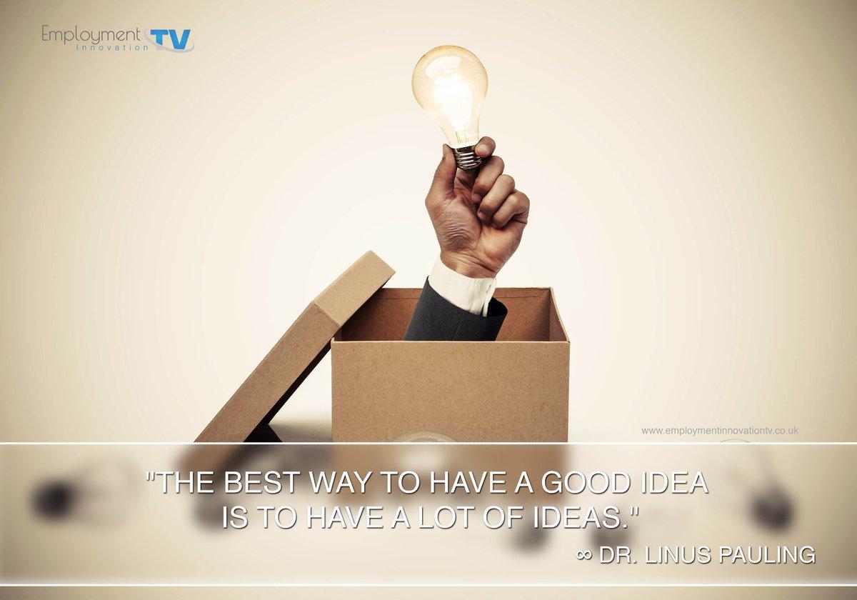 An idea goes a long way! #employmentinnovationtv #ideas #thinkoutofthebox <br>http://pic.twitter.com/PktcsKc179