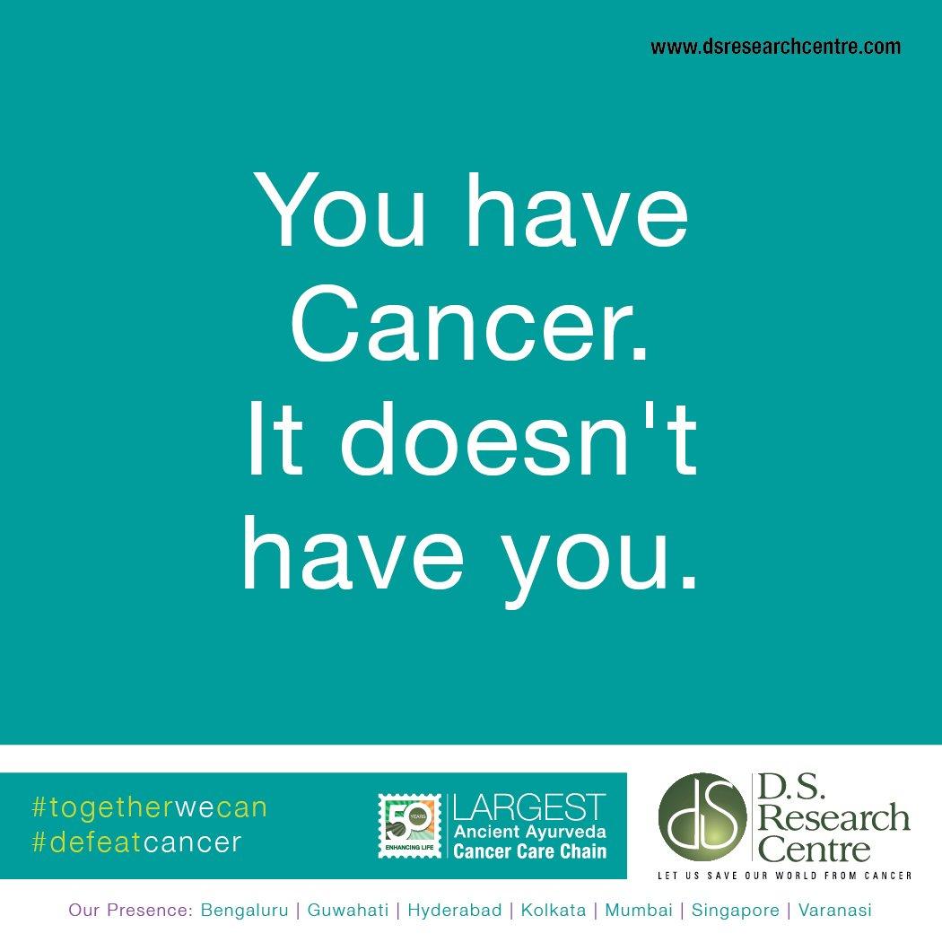 You have #CANCER It doesn&#39;t have #you. Never #giveup, Never #loose #hope #fightback #CancerFree #cancersurvivor #togetherwecan #defeatcancer<br>http://pic.twitter.com/AFg7OMP5pB