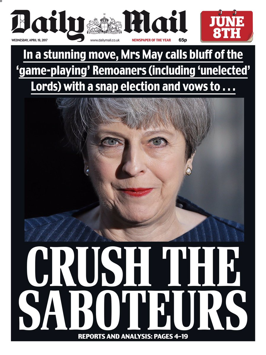 'Crush the Saboteurs' is a phrase borrowed from Stalin and it has no place on the front page of a British newspaper. https://t.co/FNDIDWoDGP
