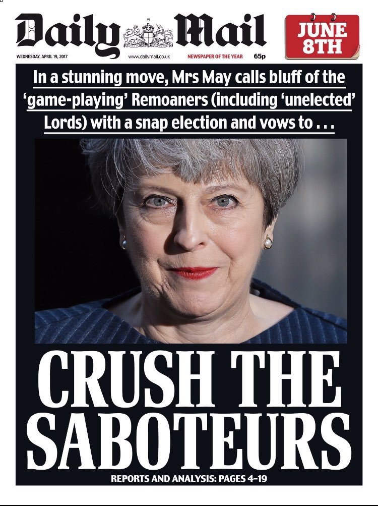 CRUSH! KILL! MURDER! SMASH! - the verbs of a general election post-Brexit. I used to quite like this country. https://t.co/oj82j5aGFX