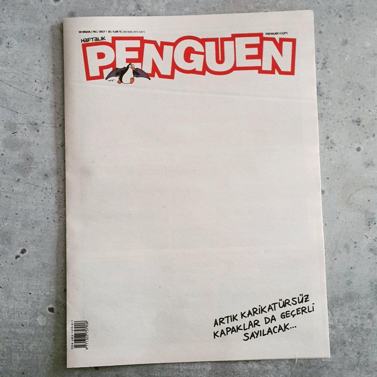 Artık karikatürsüz kapaklar da geçerli sayılacak... #Penguen yeni sayı çıktı!
