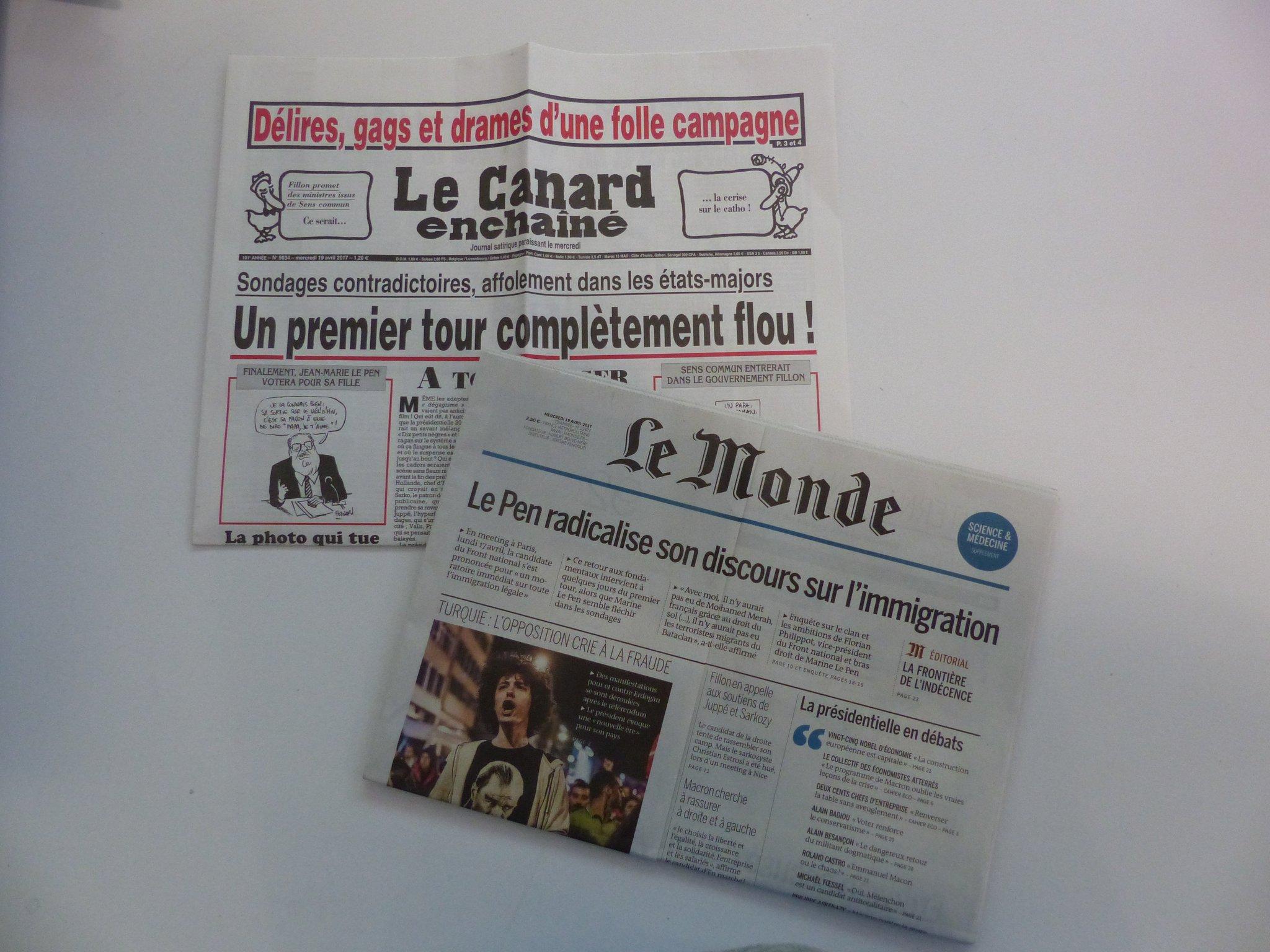 .@BibCentraleLyon poursuit la présentation de la #presse d'actu en lien avec la #présidentielle @lemondefr. RV #CitoyenECL à l'espace presse https://t.co/hgwJtETsLb