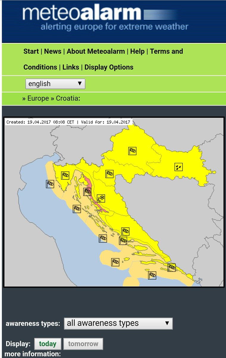 #RedAlert due to #Wind in #Croatia (Velebit channel region)  #SevereWeather #SMEM #MSGU #RSGE #SMEMde<br>http://pic.twitter.com/uTdWYMwjJh