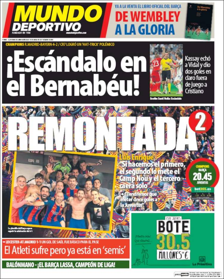 Footballespana On Twitter Mundo Deportivo Concentrate On Barcelona S Comeback Part 2 Luis Enrique Believes They Ll Need 5 Goals Tonight Https T Co Szt8vh6lz8 Https T Co Wbwpn8huyh