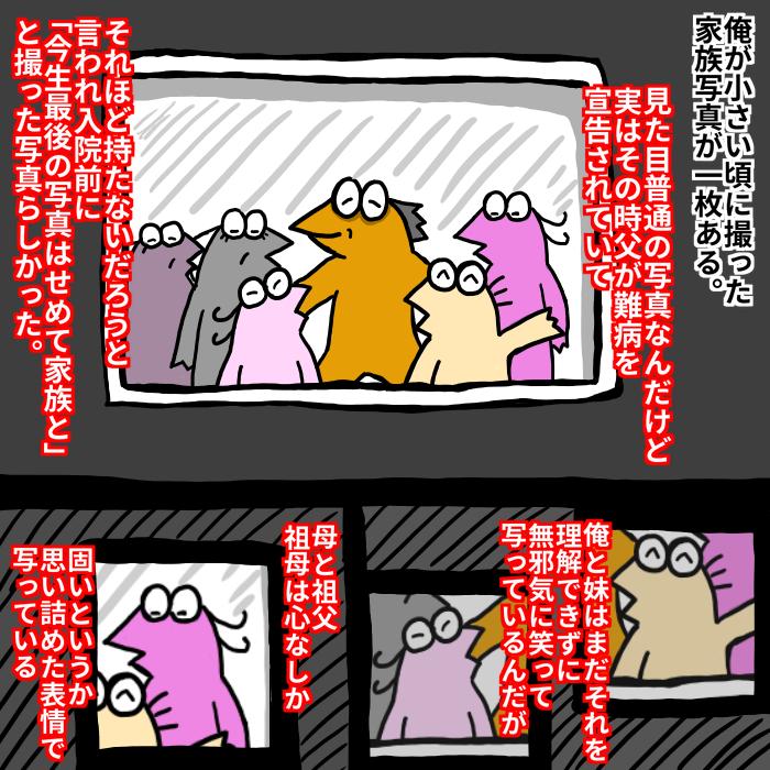 ボロボロの家族写真  いままでの漫画まとめ→【blog.livedoor.jp/nannjyakiu/      】