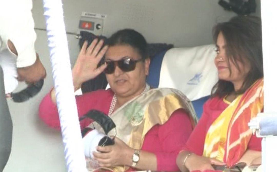 Nepal President Bidhya Devi Bhandari in Gujarat on two-day visit