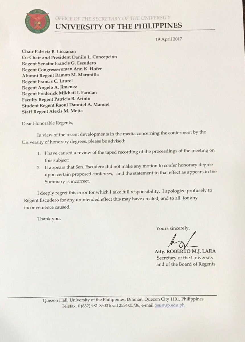 Letter to the Regents concerning the error https://t.co/rmOm9us5Ir