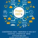 #SAVETHEDATE : La conférence finale #ISEPx c'est le 31 mai. 1 année de travail en équipe et 4 pitchs présentant les résultats ! #mustattend