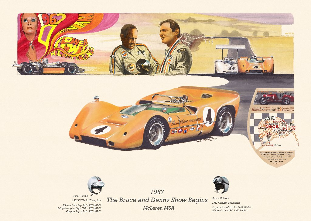 I will be selling my new #CanAm #McLaren print, framed &amp; unframed at the scramble this Sunday @BicesterH @VMagnetos<br>http://pic.twitter.com/xGDIVeLC4t
