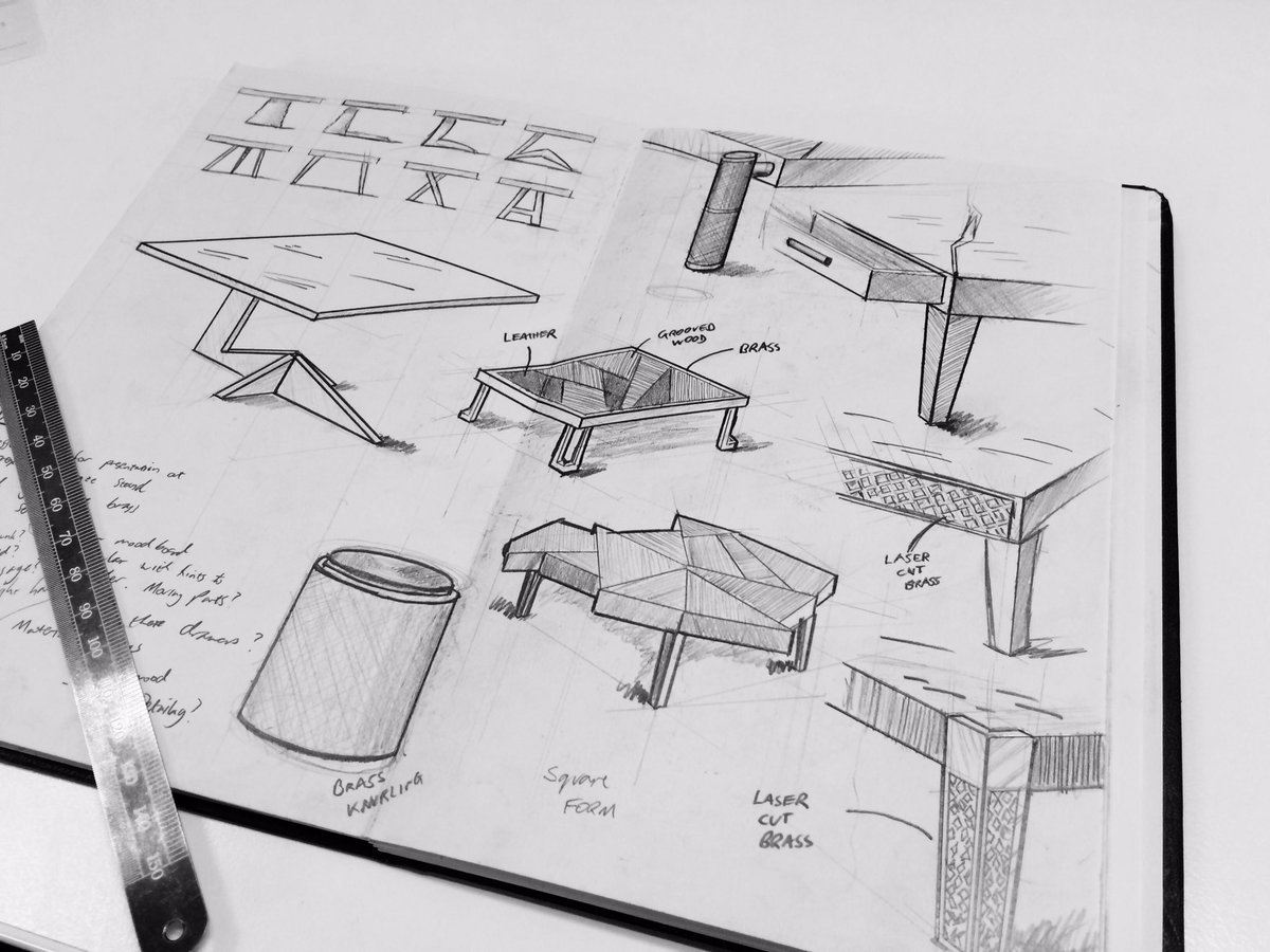 Morpheus London On Twitter The Drawing Board Sketches Of Bespoke Furniture And Coffee Tables Design Sketch