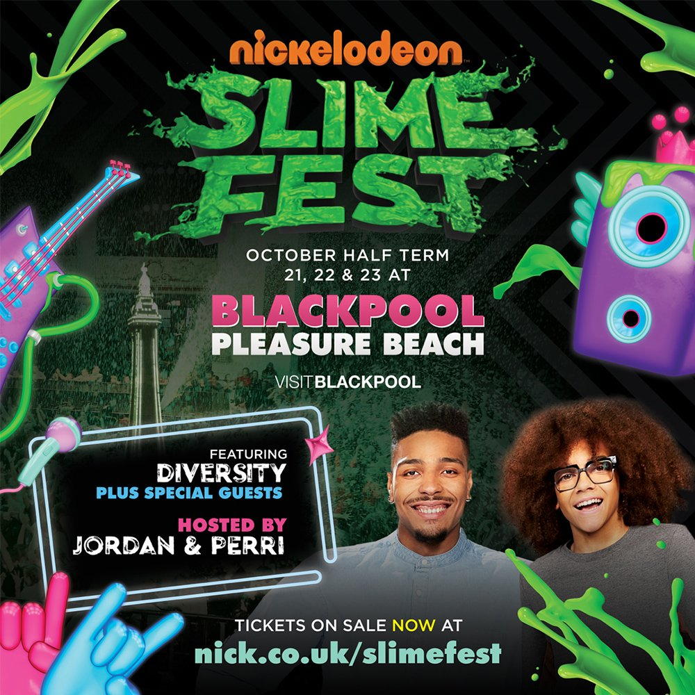 viacom talent viacomtalent twitter nickelodeon s slimiest event of the year is back slimefest will be taking over blackpool this ow ly z0rx30aywy7 pic com
