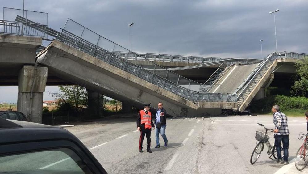 """Crollo viadotto Fossano: """"forse difetto di costruzione"""""""