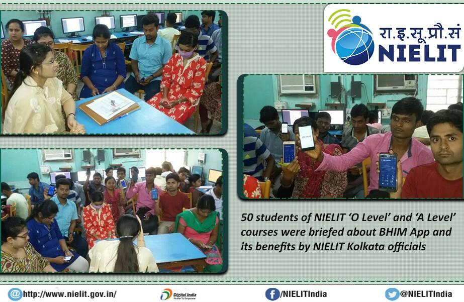 #NIELIT #Kolkata: Sensitizing students &amp; creating awareness to migrate to #lessCasheconomy through #BHIM App #meradeshbadalrahahai @rsprasad<br>http://pic.twitter.com/AICvIDHRzA